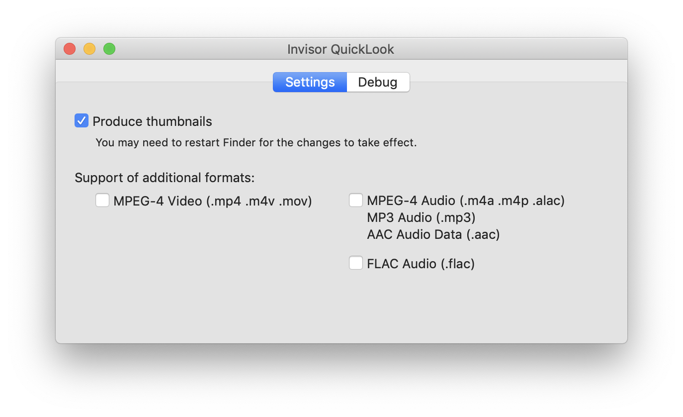 Invisor - Media file inspector for Mac